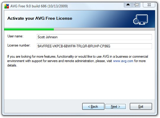 avg new license number free