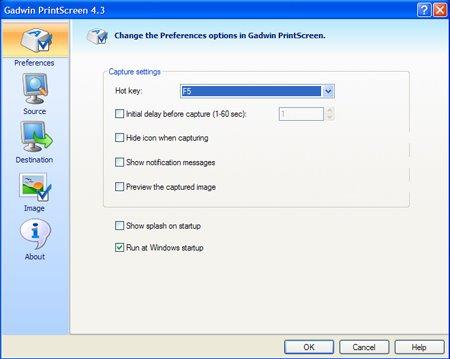 The best screenshot program: Gadwin Printscreen